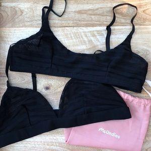 e774105309a3f meundies Intimates   Sleepwear - MeUndies Bralettes in Black Lace (size ...